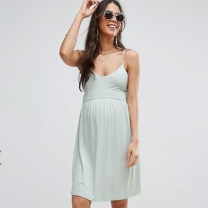 NWOT ASOS Maternity Lace up Skater Dress Tall